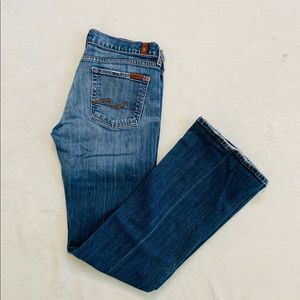 7 For All Mankind Low Waist Bootcut Jeans sz 30
